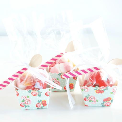Cupcakes de gominolas de flores de Deliciosso.es