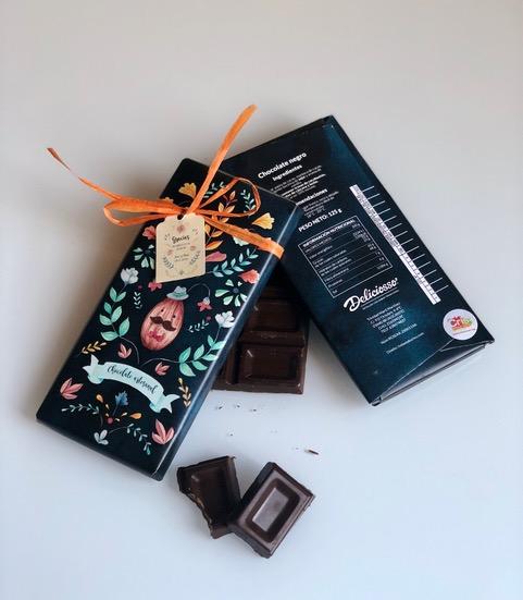 Tableta de Chocolate 50% Cacao Gourmet Envoltorio Chico | Deliciosso