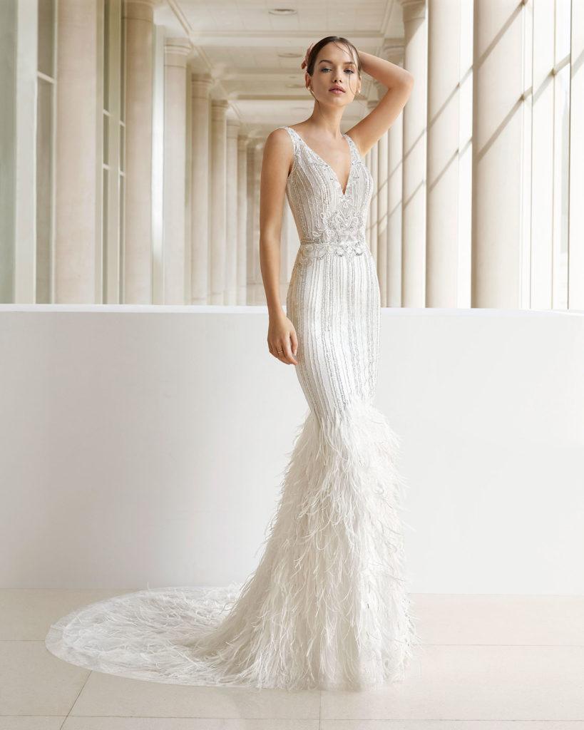 Vestido de novia con brillo