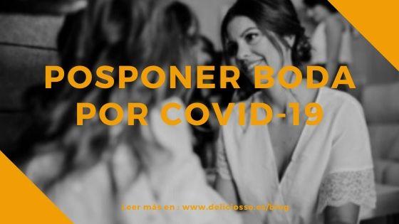 Posponer boda por COVID-19